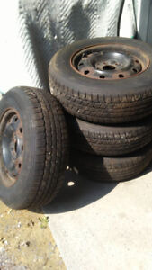 205 70R15 ALL WEATHER (RATED FOR WINTER) TIRES & RIMS