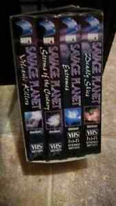 4 vhs collector boxsets.incl vintage star wars $35 o.b $20 each
