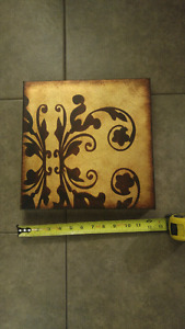 Canvas gold and and bronze wall hanging