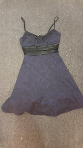 (SIZE 5) Plum floral cocktail dress