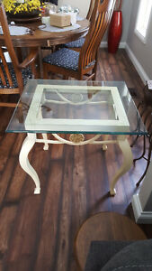 GLASS TOP IRON TABLES