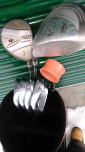 Golf clubs and sack!