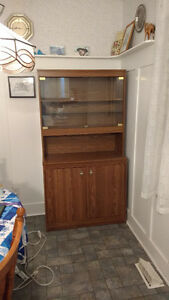 China cabinet with hutch