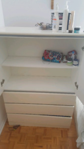 White dresser, very good quality, heavy wood