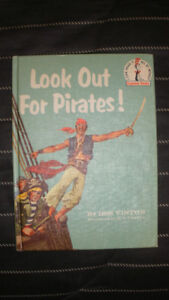 Vintage Dr Seuss 1961 Beginner Look Out for Pirates by Iris Vint
