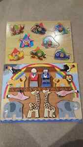 Melissa & Doug Wooden Puzzle (+ one other)