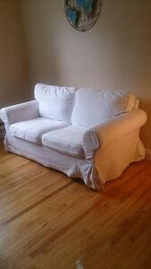 Sofa/Causeuse 2 places Ektorp avec housse