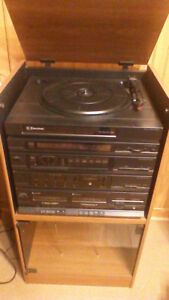 Emerson Stereo and Cabinet