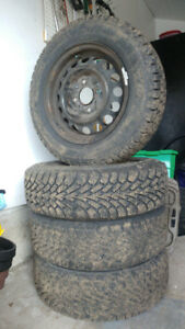 Set fo 4 BRAND NEW P185/65/14 WInter Tires with receipt and rims