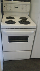 GE Simple Coil Top Stove (White) 24""