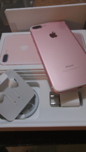 IPhone 7plus 128g Rose Gold Like New with box Bell