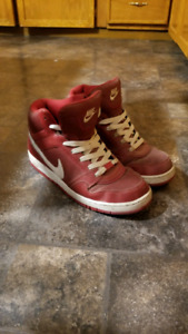 Size 12 red nike shoes