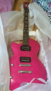 Daisy Rock Rock Candy Classic Atomic Pink Left Handed Electric!!