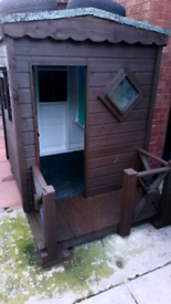 Childrens playhouse shed in good condition with 3 windows £200