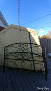 Wrought iron King-size headboard and footboard from Pier One