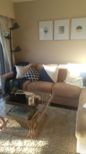 Caramel 4 seater sectional sofa