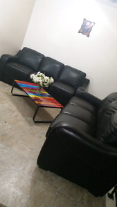 2 leather couches