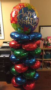 Birthday balloons - free standing 6ft tall