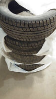DUNLOP WINTER TIRES 225/55/17 USED MADE IN JAPAN