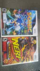 nerf wii game , sonic wii game Kitchener / Waterloo Kitchener Area image 1