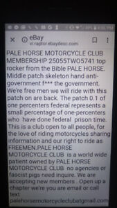 Become a member of the PALE HORSE MOTORCYCLE CLUB 25055TWO5741