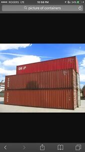 40' HC and 20' CONTAINERS FOR SALE /TradeforBobcat/outdForklift