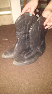 Real leather cowgirl boots for sale