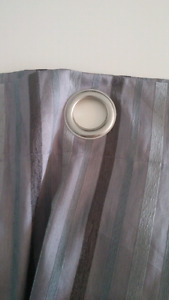 Set of Striped Blackout Curtains