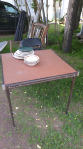 Card table and chair