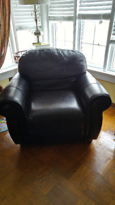 LANE Leather Chair and Matching Sofa