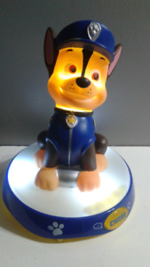 Paw Patrol Chase Talking Night Light $20. Firm Works Great