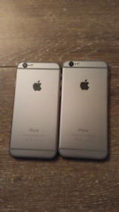 2 Apple Iphone 6, 64gb, space grey, unlocked