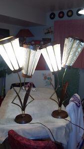Majestic antique vintage 1950s 1960s table floor lamps