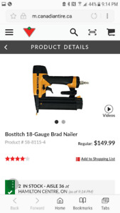 BOSTITCH 18gag BRAD NAILER