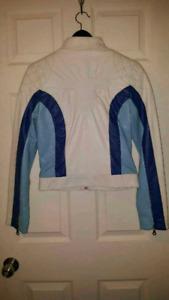 Manteau cuir blanc small femme logik