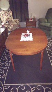 Dining Table & Art $40