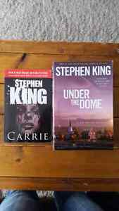 Two Stephen King Novels: Under The Dome and Carrie in english