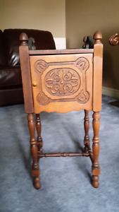 Carved Antique solid wood Tobacco cabinet