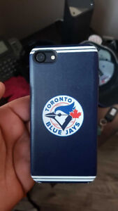 IPHONE 7 WITH BLUE JAYS CASE!!!