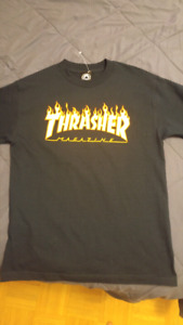 Navy Thrasher tshirt medium