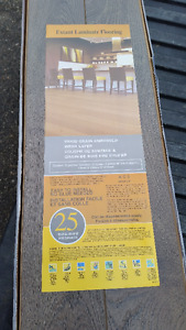 "12mm Laminate Flooring (New) 5"" wide plank"