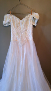 Vintage lace and beaded wedding dress