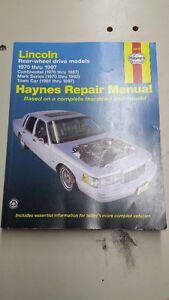 Haynes manuals 70-97 Lincoln & 84-94 Tempo/Topaz