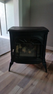 Old fashioned cast iron fire place