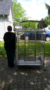 Large cage with play top and on wheels