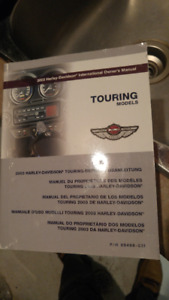 Harley Davidson 2003 Softail and Touring Models Owners Manuals