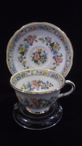 """Foley """"Ming Rose"""" Demitasse Cup and Saucer"""