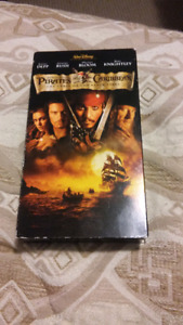Pirates of the Caribbean The Curse of The Black Pearl VHS