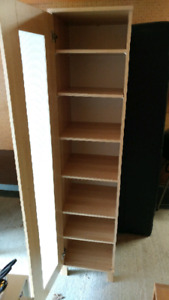 Pantry cabinet or small storage shelf with door