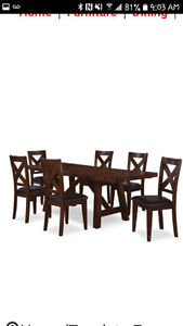7 piece Dinning Table set, with leafs